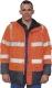 Apolló jó láthatósági kabát, narancs,  poliuretan bevonatú oxford poliészter vizálló külső alapanyagú