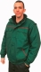 4677 Színes bélelt vatta dzseki, rejtett gombolás, takaró pánttal, zöld ,  kopásálló kevert szálas és 100% pamut alapanyagokból