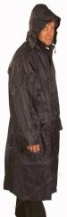 Esőkabát, sav és lúgálló, poliamidra mártott PVC, 120 cm hosszú, sötétkék
