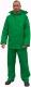 Esőöltöny, sav és lúgálló, poliamidra mártott lágy PVC, szellőző hát, zöld
