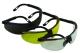 Füstszínű látogatói szemüveg állítható kerettel, gumi orrnyereggel