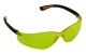 UV-szűrős polikarbonát szemüveg sárga lencsével, fekete kerettel