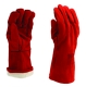 Bélelt kesztyű, piros, 35 cm hosszú, szikra és lángálló