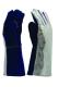 Bélelt kesztyű, szikra és lángálló, alumininizált kézháttal