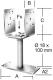 Vormann oszloptalp dűbelezhető állítható 60-140 mm 70x115