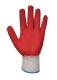 Ecogrip védőkesztyű, piros, Poliészter, pamut, latex