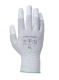 ESD ujjvég bevont védőkesztyű, szürke, Nylon/Szénszál, PU