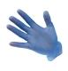 Vinyl egyszerhasználatos kesztyű, púderezett (100 db), kék, PVC