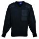A NATO pulóver, 100% akril, pamut rátétek, fekete, 100% akril,