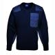 A NATO pulóver, 100% akril, pamut rátétek, tengerészkék, 100% akril,