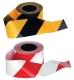 Jelzőszalag, piros/fehér, 500m x 75mm x 30 mikron