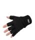 Ujjvég nélküli kötött kesztyű, fekete, 100% akri, thinsulate bélés 40g