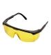 Klasszikus védőszemüveg, sárga, polikarbonát UV400 & műanyag keret