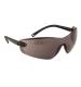 Profil védőszemüveg, füst, polikarbonát UV370 & gumi szár