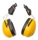 Sisakra szerelhető fültok , sárga, nagy erősségű polisztirol csésze & PVC párnák