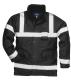 Iona Lite kabát, fekete, 100% poliészter, 300D Oxford szövés, PU bevonattal, 190g. tanúsítás EN343 Class 3:1
