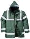 Iona Lite kabát, zöld, 100% poliészter, 300D Oxford szövés, PU bevonattal, 190g. tanúsítás EN343 Class 3:1