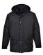 """Arbroath lélegző polár béléses kabát, fekete, 100% poliészter """"lélegző"""" PU bevonattal (160g)"""
