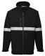 IONA Softshell dzseki, fekete, 94% poliészter, 6% Spandex, 160g, 100% poliészter mikro polár anyaggal laminálva