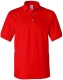100 % Cotton Pique Polo, 240g, Red-Piros