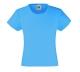 Girls Valueweight T , 160g, Azure Blue -Azúr kék