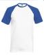 Baseball T póló, 160g, White Royal, fehér-királykék