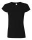 G 64000L Ladies' Fitted Ring Spun T black L, 140g,  női póló