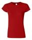 G 64000L Ladies' Fitted Ring Spun T red M, 140g,  női póló