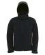 Hooded Softshell /men, Black-Fekete