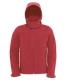 Hooded Softshell /men, Red-Piros